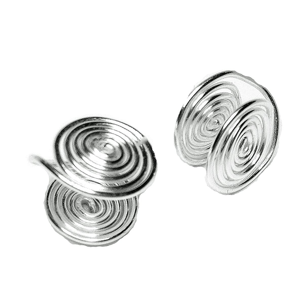 Silver Tone Wire Wrapped Clip-on Earrings about 12mm Handmade in USA by Earlums 4306655720