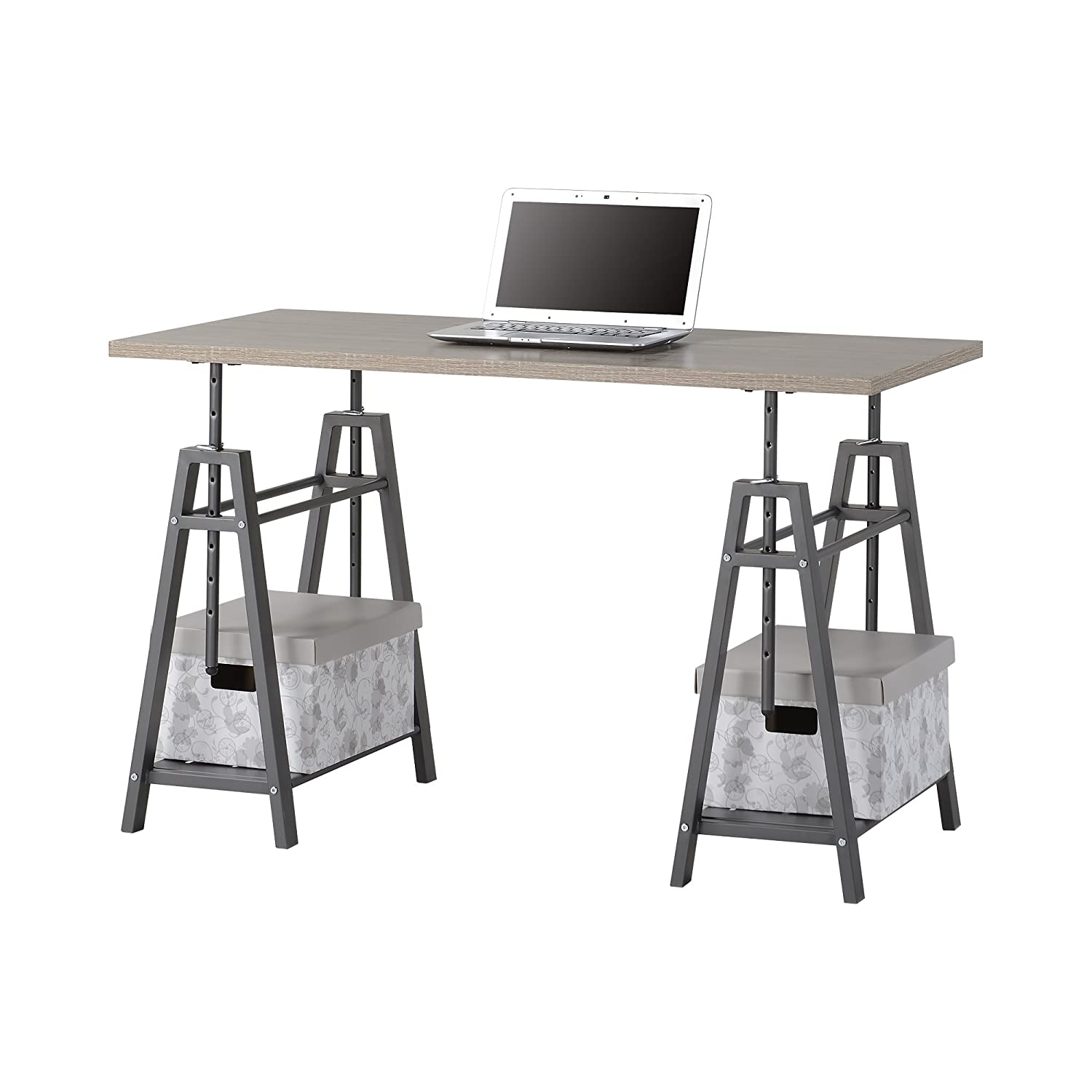 HOMESTAR Z1430261 Desk, 47.2 x 23.2 x 29.9 inches, Reclaimed Wood