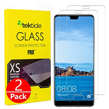 Tektide Screen Protector Compatible for Huawei P20 Pro, Drop-Protection  Shatter-Proof Safety Laminated Tempered Glass Screen Protectors/Display