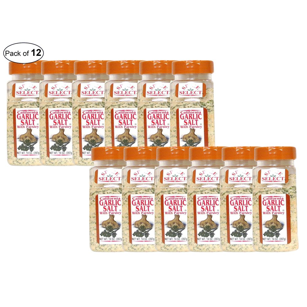 Spice Select- Garlic Salt With Parsley (397g) (Pack of 12)