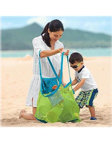 Stonges - Bolso de asas de arena de la playa para los juguetes grandes y de