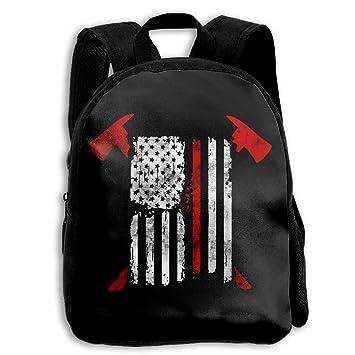 Amazon.com   Martina Houston Thin Red Line US Flag Firefighter Grunge Kids  Boys Girls School Backpack Book Bag   Kids  Backpacks caf9d38756
