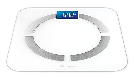 Medisana BS-430 Connect - Báscula digital de baño con análisis corporal y Bluetooth,