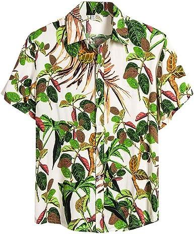 Nueva Camisa Hawaiana para Hombre Camisas Estampada Unisex Primavera y Verano Moda Shirt Casual cómodo Top de Playa Hombres Hawaiano Impreso Camiseta de Manga Corta: Amazon.es: Ropa y accesorios