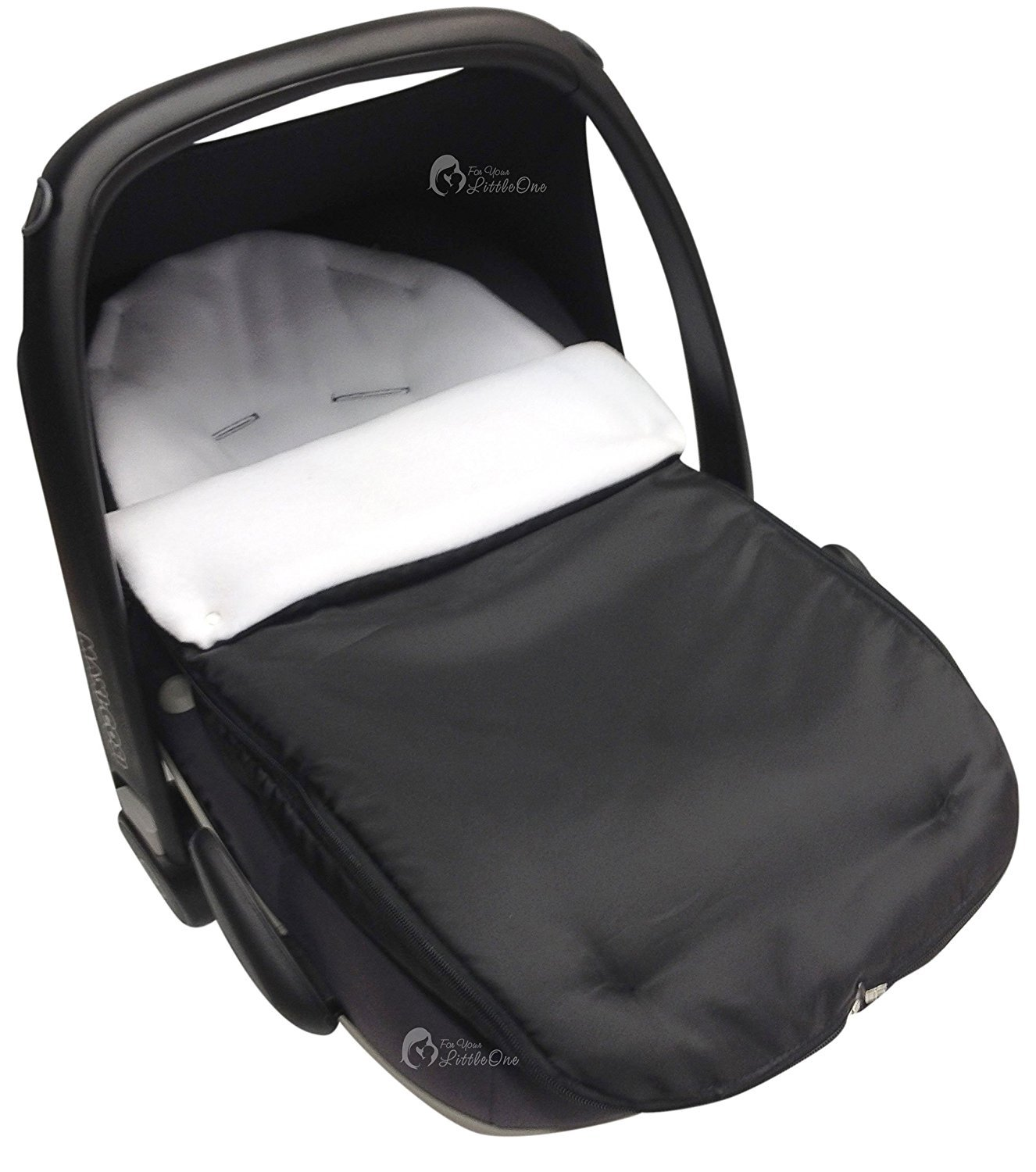 Car Seat Footmuff//Cosy Toes Compatible with Maxi Cosi Pebble Off White