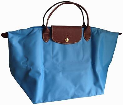 ee4527f22da Image Unavailable. Image not available for. Color  Longchamp Paris Le  Pliage Medium Handheld Tote Blue