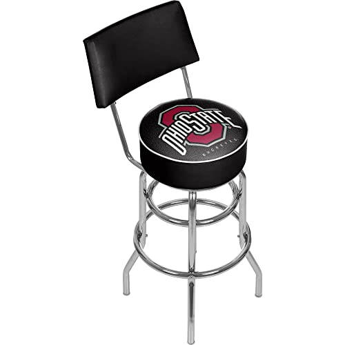 NCAA Ohio State University Padded Swivel Bar Stool with Back