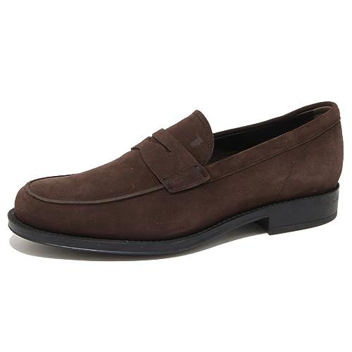 9123n Classico Marrone Scarpe Tod's Loafer Uomo Gomma Mocassino Men v0nw8Nm