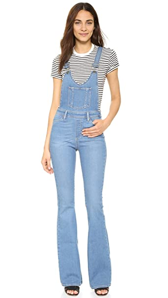 good out x genuine shoes enjoy discount price PAIGE Denim Women's Rialta High Rise Flare Overalls
