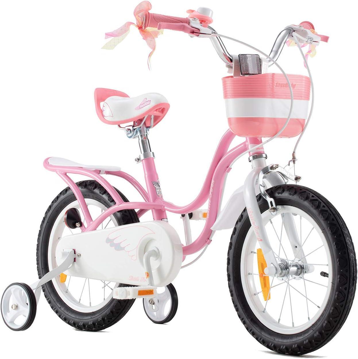 RoyalBaby Bicicleta para niños niña 3-9 años Little Swan 12 14 16 18 Pulgadas Ruedas auxiliares Bicicletas Infantiles Bicicleta de Niño