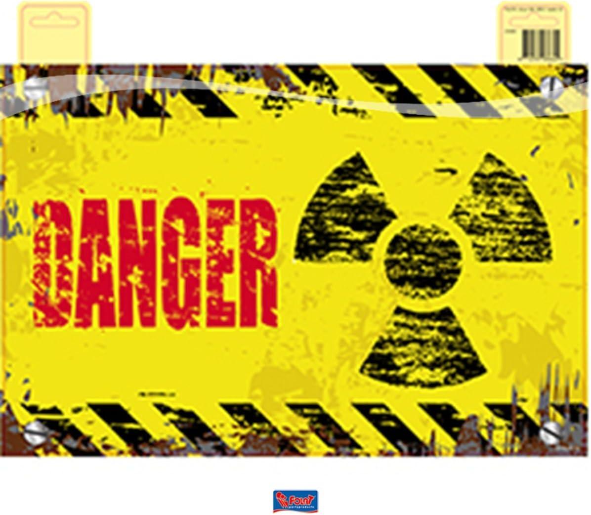 feestartikelen.nl Placa para Puerta con Texto en alemán Danger Gefahr - 37 cm: Amazon.es: Juguetes y juegos