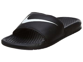 6cd4c614bbf5 Nike Women s Benassi Swoosh - Black   White