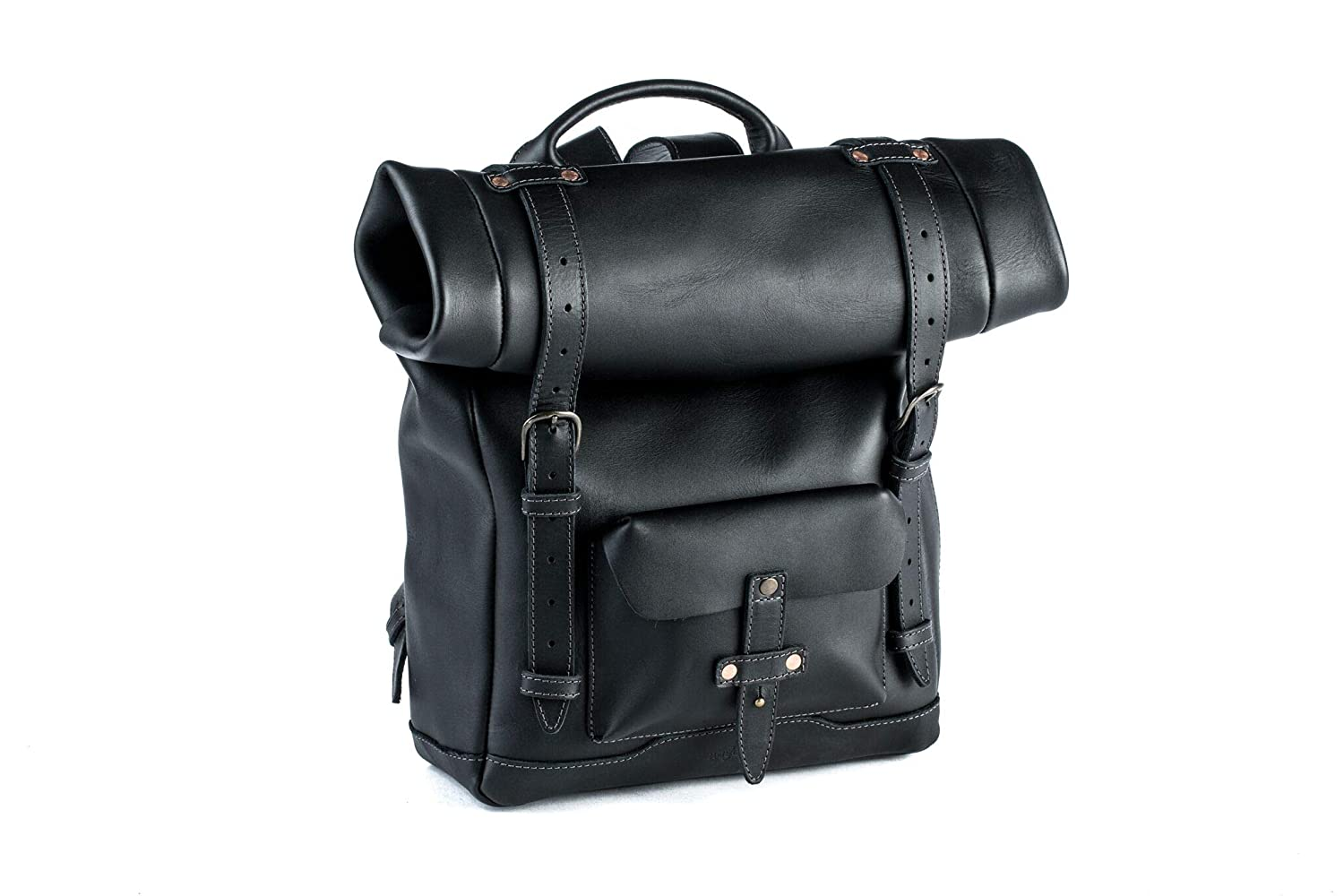 The Heritage Rolltop Leather Laptop Backpack travel product recommended by Naomi on Lifney.