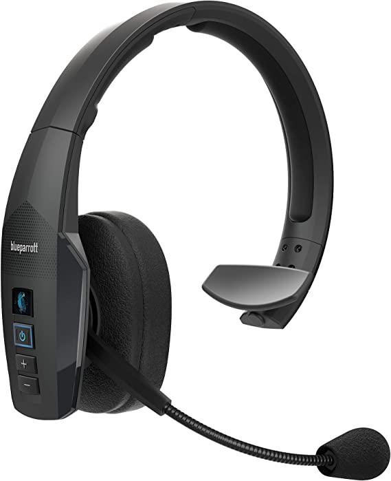 Amazon Com Blueparrott B450 Xt Noise Cancelling Bluetooth Headset Updated Design With Industry Leading Sound Improved Comfort Long Wireless Range Up To 24 Hours Of Talk Time Ip54 Rated Wireless Headset