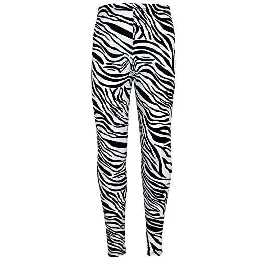 ad6a4a98c32c0 Amazon.com: Girls Legging Kids Animal Zebra Print Fashion Leggings 5 7 8 9  10 11 12 13 Yrs: Clothing