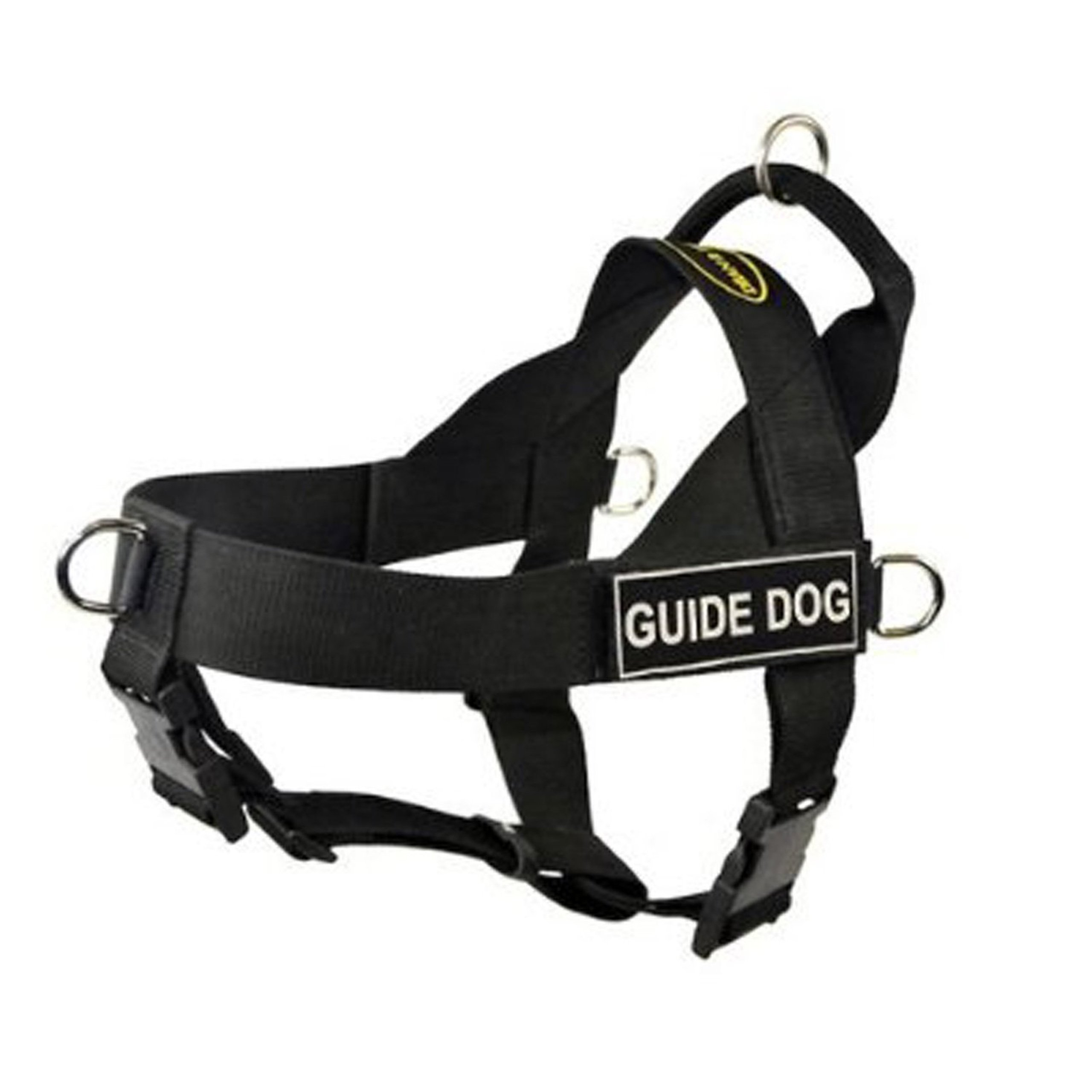 DT Universal No Pull Dog Harness, Guide Dog, Black, X-Small, Fits Girth Size: 21-Inch to 25-Inch