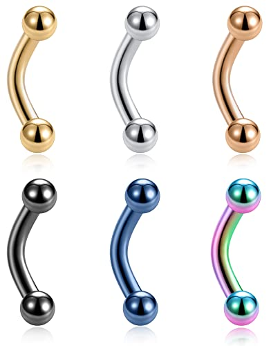 Tornito 6 12pcs 14g 6mm Short Bar Tiny Stainless Steel Belly Button Rings Navel Rings For Women Girls Barbell Body Piercing Jewelry