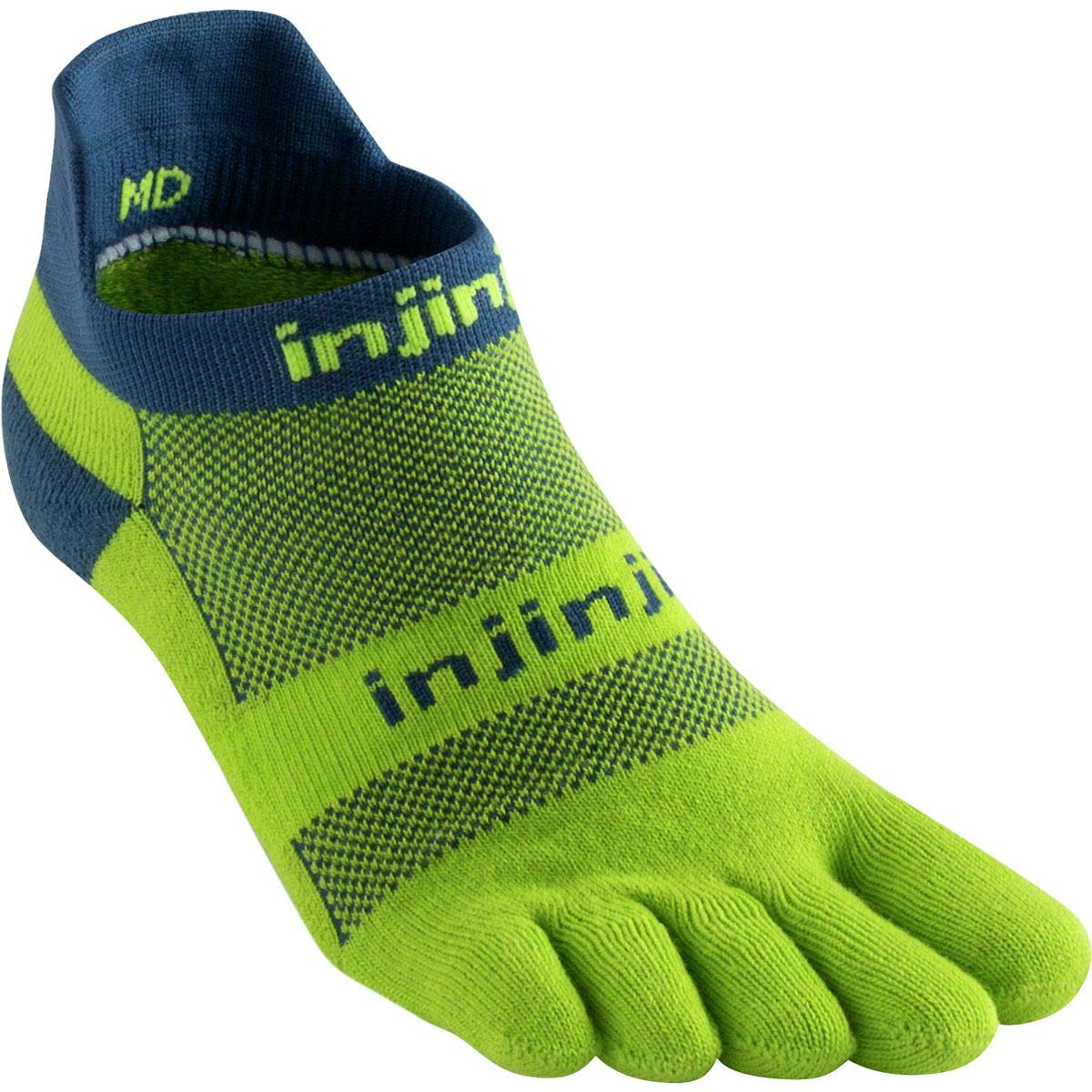 Injinji Socks Correr Peso Medio No Show Correr Calapiés Calcetines Pistacho