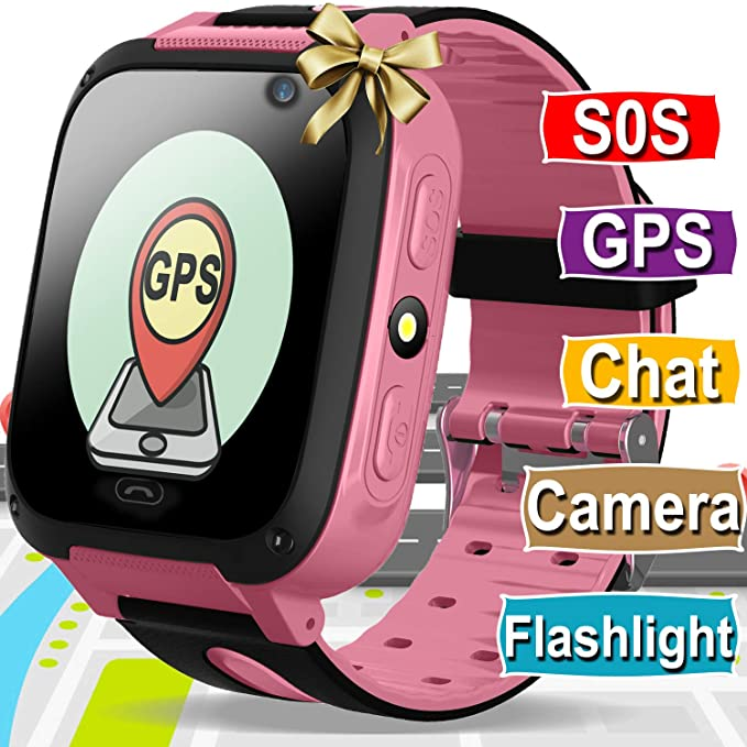 Kids Smart Watch Phone for Boys Girls with GPS Tracker Cellphone SOS Anti-lost Camera