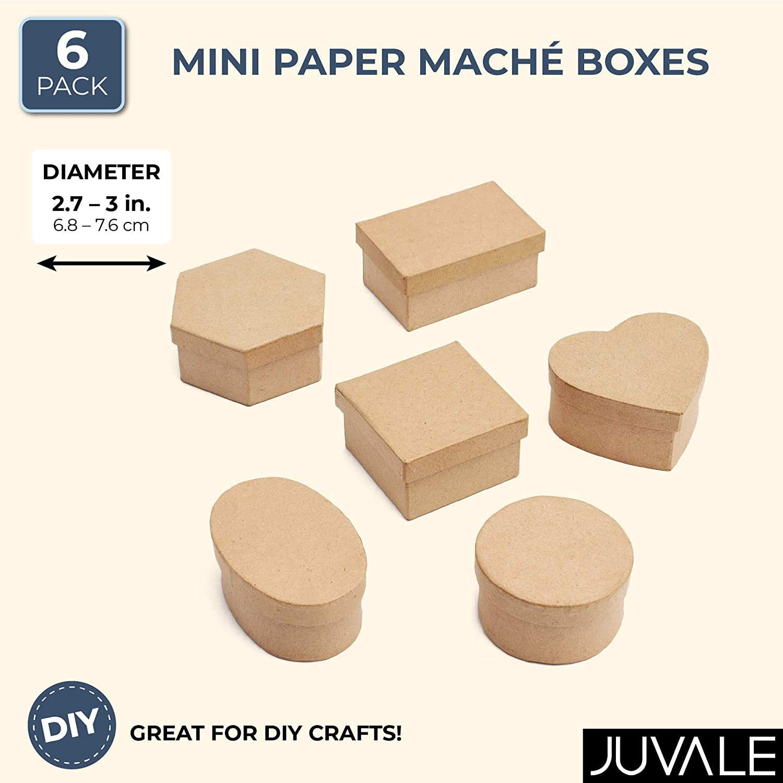 24 Box Set Factory Direct Craft Paper Mache Assorted Shape Boxes