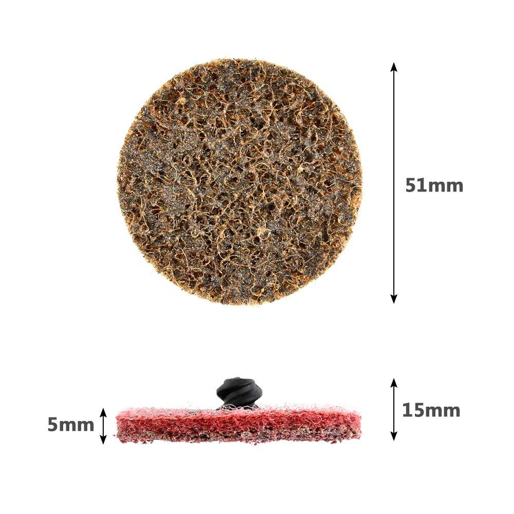 ATPWONZ 30pcs 2 inch Roloc Sanding Discs Power Sander Quick Change Discs Fine Medium Coarse Grit Surface Conditioning Discs