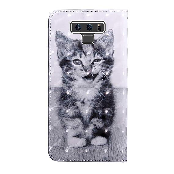 CAXPRO Coque pour Samsung Galaxy Note 9 3D Motif Portefeuille Coque Tigre Galaxy Note 9 /Étui en Cuir /à Rabat avec Fermeture magn/étique et Emplacements pour Carte