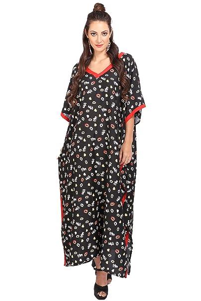 Miss Lavish London Mujer Kaftan Túnico Kimono Estilo Más tamaño Maxi para Loungewear Vacaciones Ropa de