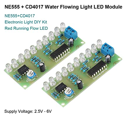 Ne555 Cd4017 Ne555 Driver Water Powered Board Circuit Water Flowing Light Led Electronic Module Diy Kit Running Light Drive Special Summer Sale Integrated Circuits