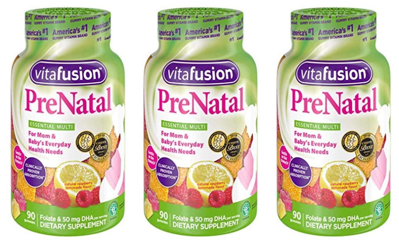 XRTHCFJ Prenatal, Gummy Vitamins, 90 Count (Packaging May Vary) 3 Pack