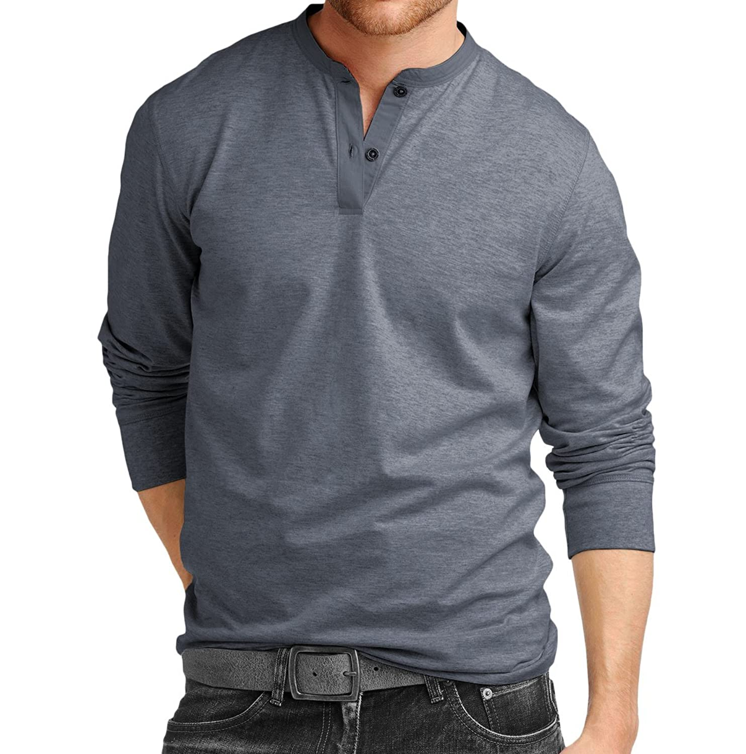 Fanideaz Men's Cotton Henley Full sleeve T Shirts: Amazon.in ...