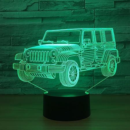 Amazon.com: Regalos de juguete Jeep coche luces de noche ...