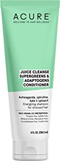 product image for ACURE Juice Cleanse Supergreens & Adaptogens Conditioner | 100% Vegan | Antioxidant Shampoo For Stressed Hair | Ashwagandha, Spirulina, Kale & Spinach - Brightens & Re-Energizes Hair | 8 Fl Oz