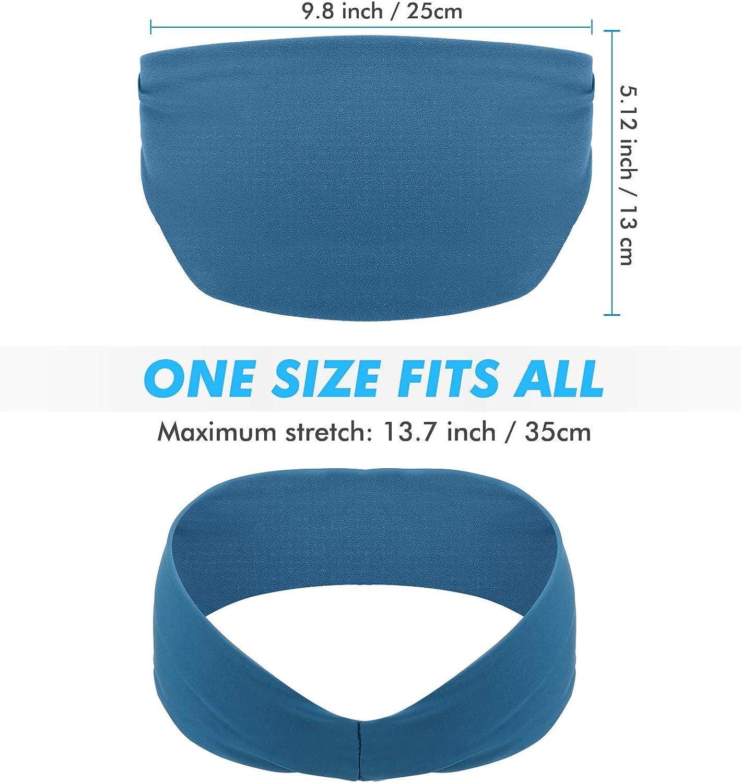 Non Slip Lightweight Sweat Band Moisture Wicking Workout Sweatbands for Running HHOOMY Mens Sport Headband Cross Training Basketball and Yoga 3 Pack