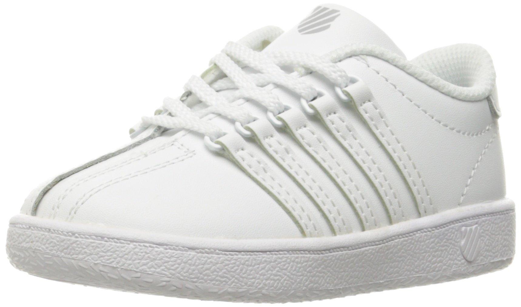 K-Swiss Classic VN Sneaker, White/White, 10 M US Toddler