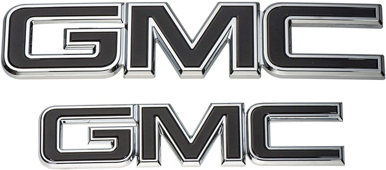 Custom Black Front Grille Rear Tailgate Emblems Badges Fit 2015-2019 GMC Sierra