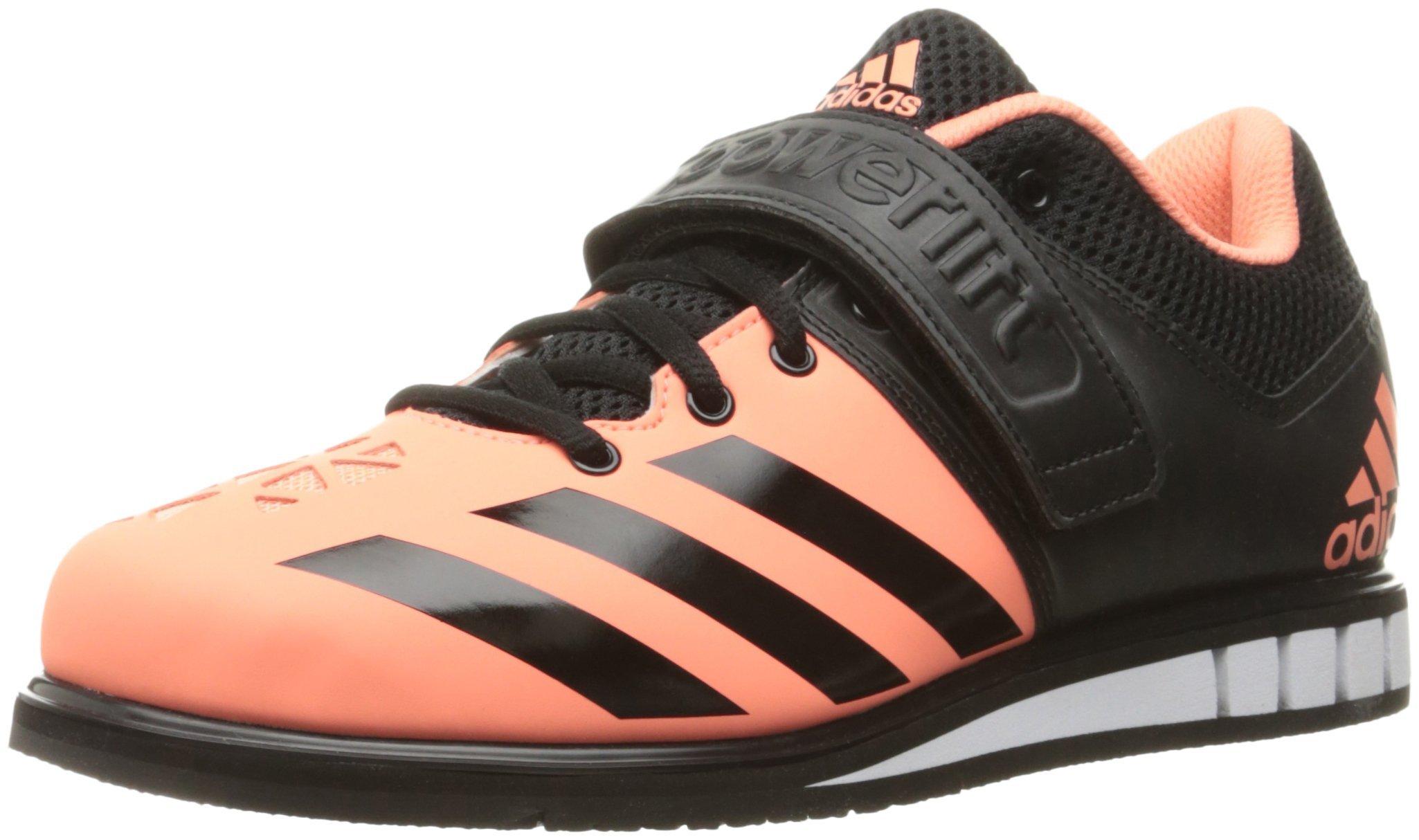 adidas Women's Shoes Powerlift.3 Cross-Trainer, Sun Glow Black/White, (7 M US)
