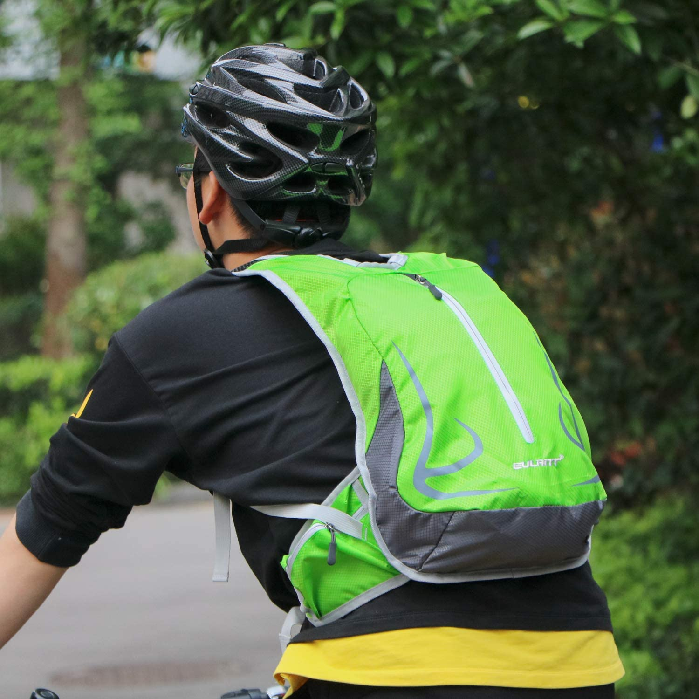 EULANT Mochilas Casual Estancas Mochila Peque/ñas para Ciclismo Senderismo Acampar Caminar Viajar Escuela de Pesca Trekking Monta/ñismo Verde 14L Mochila para Correr Ligero Mochila de Bicicleta