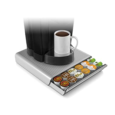 Mind Reader 36 Capacity K-Cup Single Serve Coffee Pod Storage Drawer Organizer, Grey