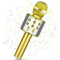 Tesoky Micrófono Inalámbrico Bluetooth Micrófono de Karaoke en Casa- Los Mejores Regalos para Niños