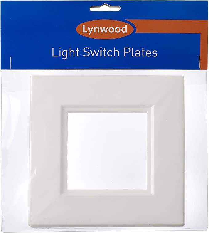 Plastic Double Light Switch Surround Socket Finger Plate Panel Cover Home Decor