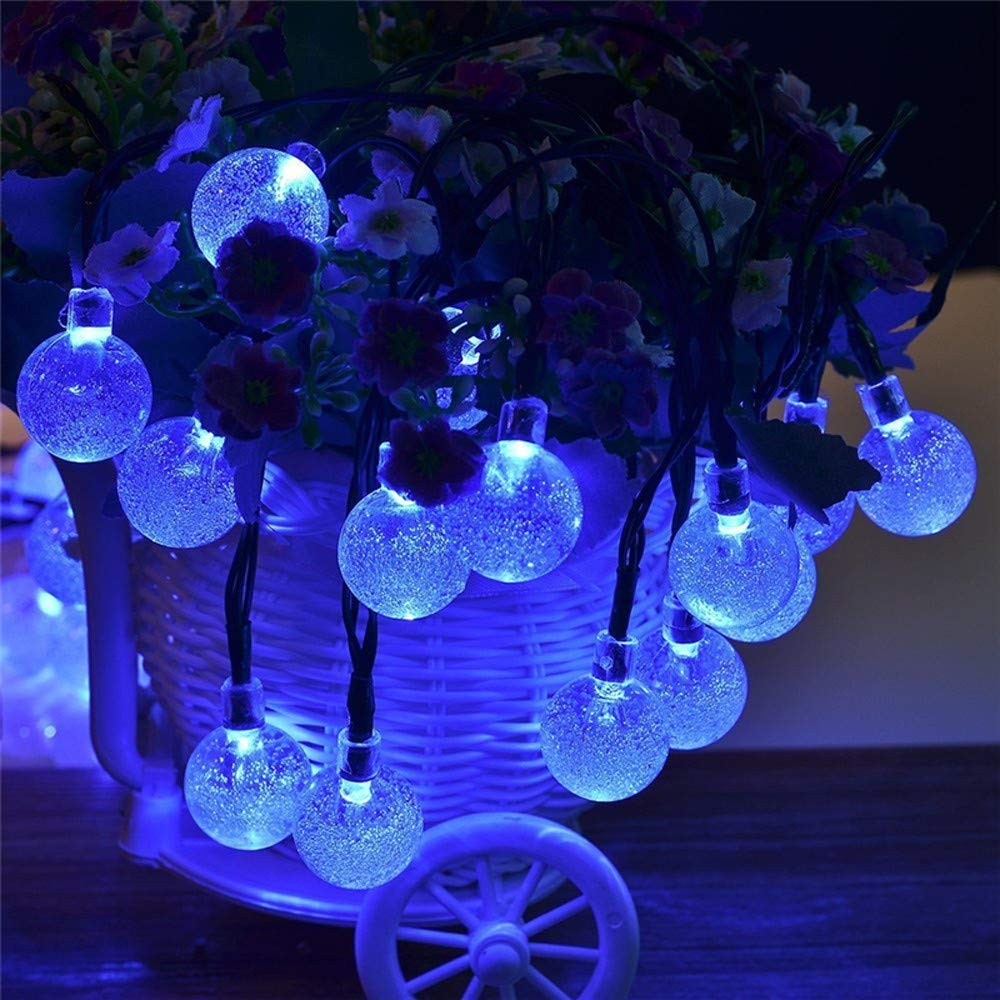 H+K+L 4M 20LED Bulbs Outdoor String Lights, Solar Powered Waterproof Decorative Lights, Lights for Patio Party Yard Garden Wedding (A)