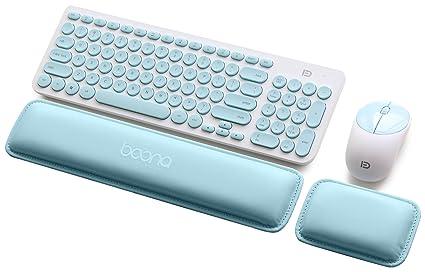 BOONA - Almohadilla de espuma con memoria para teclado y reposamuñecas de ratón para ordenador y portátil ...