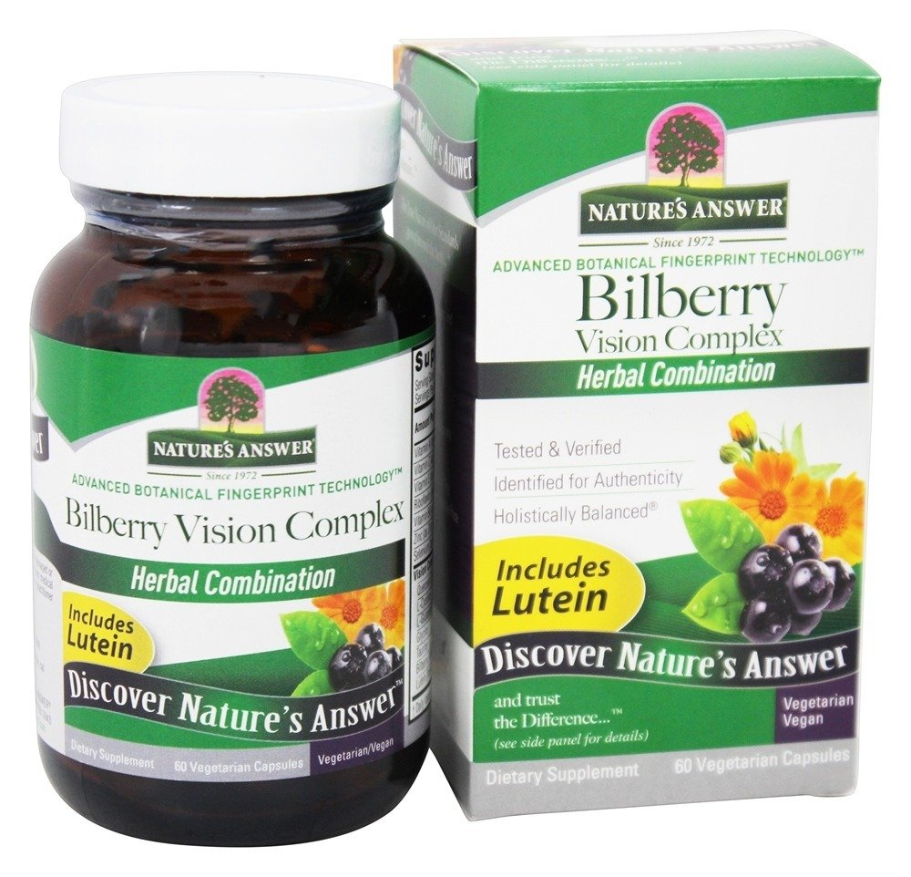 Bilberry Vision Complex Nature's Answer 60 VCaps