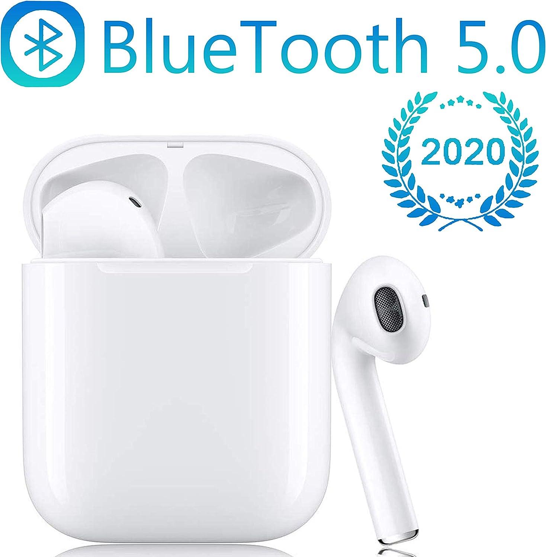 Bluetooth Kopfh?rer,In Ear Bluetooth 5.0 Headset Stereo-Minikopfh?rer Sport Kabellose Kopfh?rer mit Portable Mini Ladek?stchen und Integriertem Mikrofon f/ür Apple Airpod Android iPhone