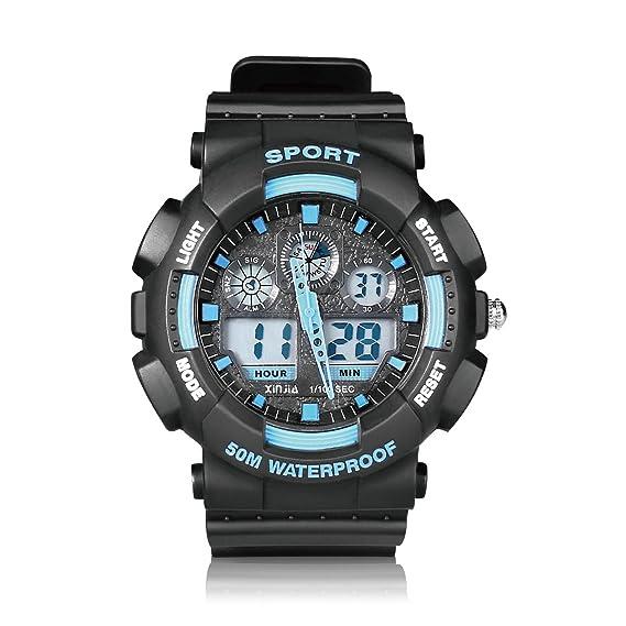 Xinjia 860z Digital reloj deportivo ejército electrónico al aire libre impermeable LED luz de fondo Pantalla