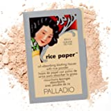 Palladio Rice Paper Facial Tissues for Oily Skin, Face Blotting Sheets Made from Natural Rice, Oil Absorbing Paper with Rice