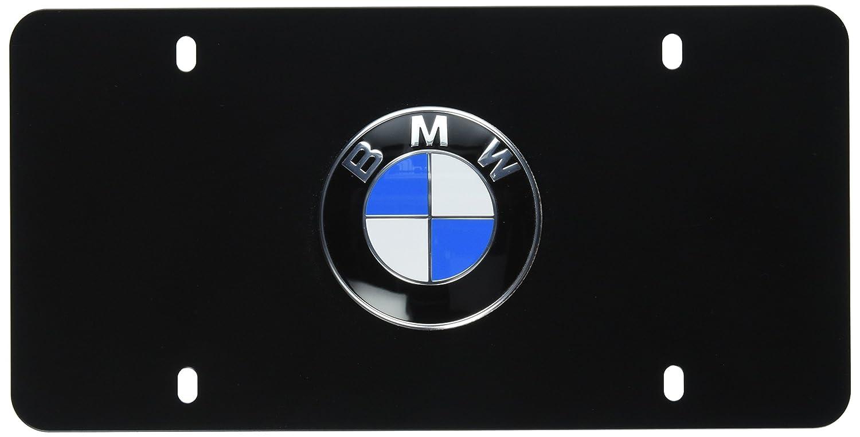 BMW License Marque Plate Logo Black FBA_82121470313