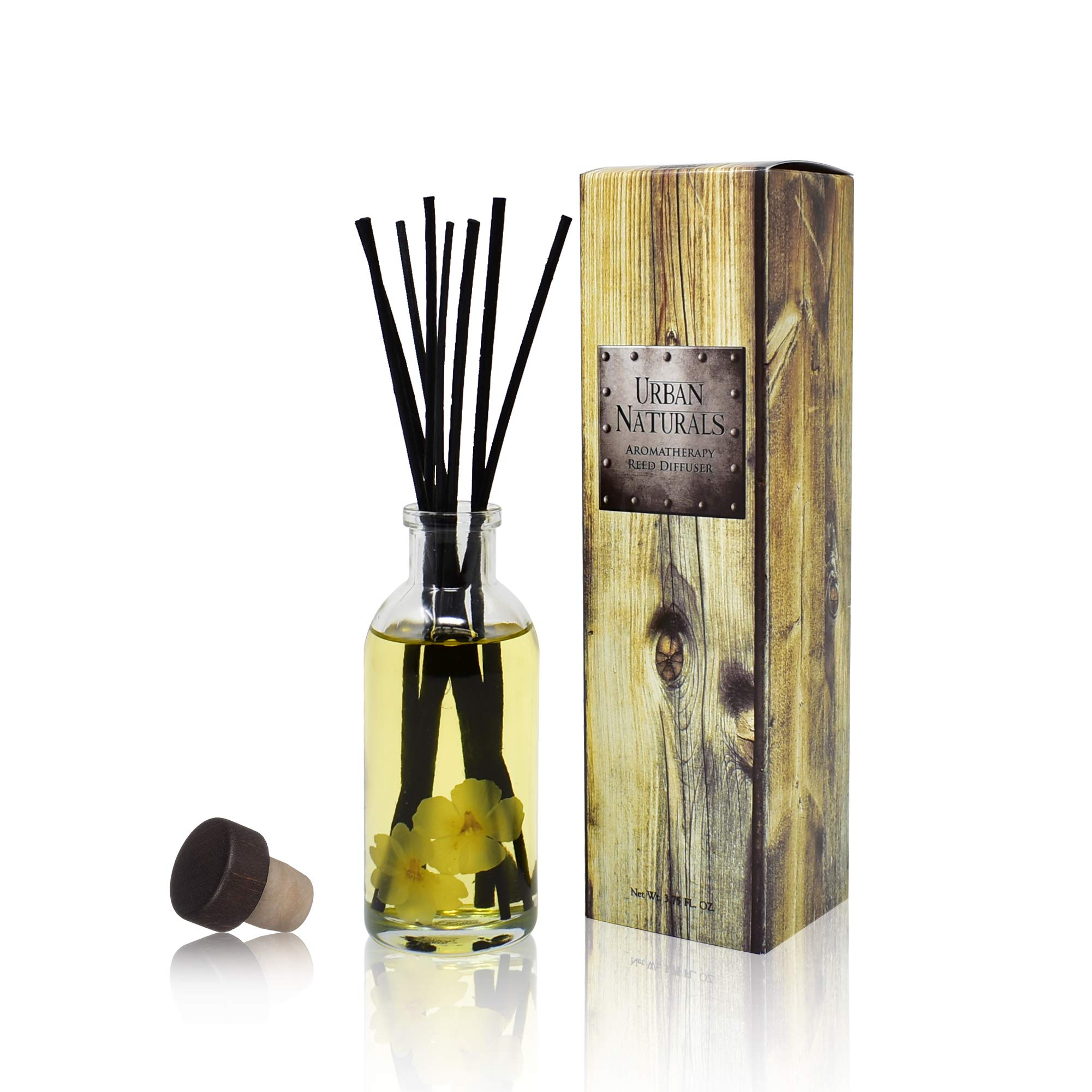 Urban Naturals Citrus & Jasmine Reed Diffuser Scented Sticks Set | (Energy + Clarity) Mind & Body Aromatherapy Collection | Essential Oil Botanical Room Scent | Liquid Potpourri Alternative