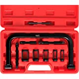 Orion Motor Tech 10pcs Solid Valve Spring Compressor, Automotive Compression C-Clamp Tool Service Kit for Motorcycle, ATV, Ca