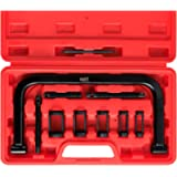 Orion Motor Tech 10pcs Solid Valve Spring Compressor, Automotive Compression C-Clamp Tool Service Kit for Motorcycle…